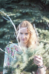 ... (Cierra Maher) Tags: trees portrait woman tree green nature girl beauty face pine oregon forest canon photography eyes branch exploring greeneyes blonde stunning salem 2015 canon5dmarkii cierramaher