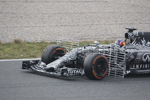 Daniil Kvyat in the Red Bull in Formula One Winter Testing 2015