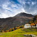 Sure, it's an isolated house with a colorful backdrop and a scenic view