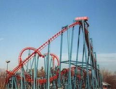 Six Flags New England (Bob Cornellier) Tags: park woman water cat ride flags historic scream batman theme amusementpark rollercoaster goliath six waterpark bizarro rollercoasters houdini sixflagsnewengland thrillrides