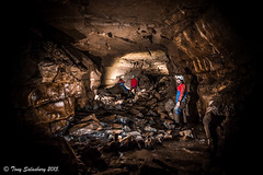 Underground streamway in Poachers Cave with The United Cavers Exploration Team (Welshsossy) Tags: canon underground mine explore caves cave dslr caving exploration speleo northwales 550d cilcain ucet unitedcaversexplorationteam