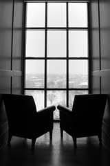 Overlooking The Oval (Elliotphotos) Tags: ohio blackandwhite bw snow chair university state chairs library libraries empty snowstorm elliot theohiostateuniversity thompson oval ohiostate ohiostateuniversity theoval the emptychairs emptychair gilfix thompsonlibrary elliotphotos elliotgilfix