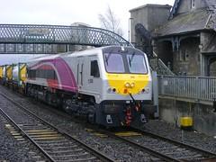 206, Portarlington, 28-02-2015 (MidlandDeltic) Tags: ireland 206 trains enterprise railways irishrail 201 generalmotors portarlington emd iarnródéireann