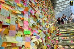 """Post-It Note Wall"" Occupy Central in Admiralty , Hong Kong (Ben Molloy Photography) Tags: wall umbrella movement nikon post ben central protest postit it hong kong note revolution molloy campaign protests admiralty 2014 occupy benmolloy benmolloyphotography benmolloyhongkong"