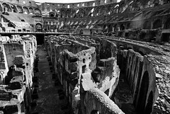 The problem with limited viewing points... (Puckpics) Tags: charlespucklehotmailcom charlesrtpuckle puckle charlespuckle allrightsreserved monochrome simulatedilfordpanf colesseum ancientrome rome history stadium gladiator entertainment venue monument lazio italy copyrightcharlesrtpuckle201 copyrightcharlesrtpuckle2015