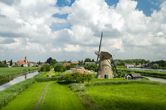 Kinderdijk: view from up top (Rebecca Wolff) Tags: 2016 july netherlands summer kinderdijk windmill