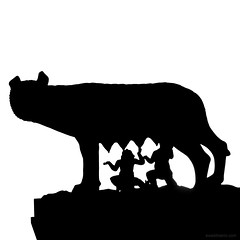 romulus and romus (ewaldmario) Tags: gegenlicht italien rom rom2014 romulusundremus silhouette wlfin latium it rome roma ewaldmario volpe italia italy sight artificial monochromefineart twins brothers cult contraluce gemelli biancoenero nikon
