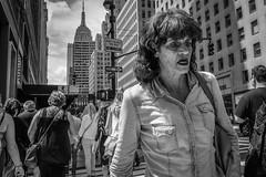 (Damien Sass) Tags: nyc newyorkcity streetphotography people urban usa unitedstates us 5thavenue manhattan monochrome woman summer 2016 28mm b bw bigapple beenthere contrast camera fujifilm xpro2 mono