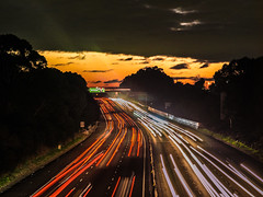 just a sunset (bart.kwasnicki) Tags: sunset cars motorway sydney