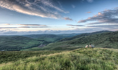 Two Sheep and a View (Mark Seton) Tags: sunset landscape scotland sheep yarrow miscellaneous borders scottishborders