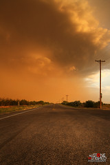 End of the line dust storm (No Stone Unturned Photography) Tags: arizona monsoon storm haboob desert road deserted telephone pole clouds weather
