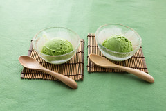 Green tea matcha ice cream scoop in bowl (yumehana) Tags: summer food cold color green ice cooking japan ball table asian dessert cuisine japanese frozen cafe close flavor tea sweet eating space cream bowl powder fresh sugar gourmet clean korean homemade icecream gelato portion slate matcha copy sorbet scoop freshness sundae creamy topping refreshment