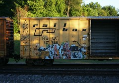 Erupto (quiet-silence) Tags: railroad art train graffiti railcar boxcar graff d30 freight erupto ttx rbox fr8 dirty30 railbox a2m rbox42869