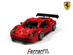 Ferrari 488 GT3 Racer (Maranelle Motorsports Australia) (lego911) Tags: ferrari 488 gtb gt3 gte racer berlinetta coupe racing auto car moc model miniland lego lego911 ldd render cad povray maranello 2016 2010s v8 motorsports foitsop