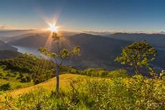 Tramonto dalla vetta del Galbiga **EXPLORED ** (Diego Pianarosa (aka Pinku)) Tags: diegopianarosa pinku sunset tramonto galbiga monte mountain lago lugano como italia italy colors