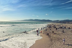 Santa Monica Beach, California (sweettea_12) Tags: beach water santa monica california usa landscape