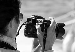 Street Portrait (patrick_milan) Tags: noiretblanc blackandwhite noir blanc monochrome nb bw black white street rue people personne gens streetview fminin femal femme woman women girl fille belle beautiful portrait face candide camera photograph nikon canon