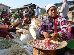 Kalaw (simo2582) Tags: people asian asia burmese shanstate shan birma birmania burma myanmar market kalaw human trade typical hilltribes tribes mountain hillstation village countryside travel reise blick unterwegs world traditional 5daysmarket groceries street legumes