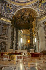 Bernini's Baldechino (Seoirse) Tags: bernini baldachin st peters rome italy vatican