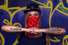 (75ins) Tags: girl badass woman outdoor street graffity rag