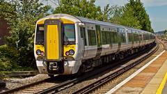 387108 (JOHN BRACE) Tags: 2014 bombardier derby built class 387 electrostar emu 387108 seen horley station thameslink white livery