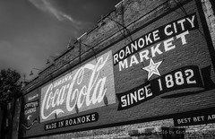 Roanoke City Market Sign (HD_Keith) Tags: bw architectural architecture blackwhite blackandwhite building edifice edifices exterior structures roanoke va usa