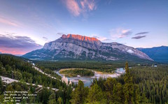 Mt Rundle & The hoodoos (Charlie's Landscape Photography) Tags: banff rundle hoodoos sunrise sunset landscape wide nature nikon sigma mountain outdoor