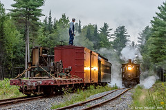 Switching at Top of the Mountain (kdmadore) Tags: wwf wiscassetwatervillefarmington wiscasset alna steamlocomotive railroad narrowgauge maine2foot wwfry train