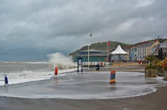 DSC_0351 (stephanie.burgess97) Tags: aberystwyth ceredigion wales uk summer storm promenade prom flood bandstand constitution hill hotels coast sea seaside