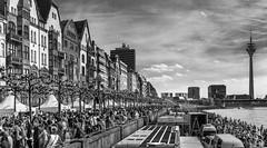 International JapanDay, Düsseldorf. 750.000 Visitors!!! (Frank Lammel) Tags: 2016 ausflüge düsseldorf fototour japanday nrw black white blackandwhite germany rheinufer river rhein city cityscape