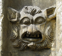 Medieval stone carving, the Church of St Mary, Beverley, Yorkshire, England (Hunky Punk) Tags: churches medieval gothic stone carving face beast animal mary beverley yorkshire eastriding england uk middleages spencermeans hunkypunk church