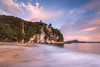 Lonely Bay (Nick Twyford) Tags: longexposure newzealand seascape beach clouds sunrise waves wideangle nz coromandel whitianga cooksbeach mercurybay lonelybay leefilters nikond800 lee09nd lee06gndsoft nikkor160350mmf40 solmetageotaggerpro2