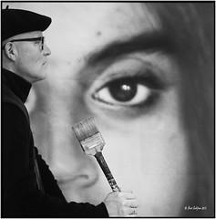 I promise the last self_Hasselblad (ksadjina) Tags: salzburg 6x6 film analog painting austria blackwhite kurt scan rodinal hasselblad500cm silverfast koppl 6min kodak100tmax malersaal nikonsupercoolscan9000ed carlzeissplanar80mmf128