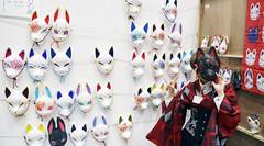 Fox Mask Exhibitor (Design Festa) Tags: original art festival japan japanese tokyo artist expression masks creator designfesta performer kitsune tokyobigsight artfestival vol40 foxmasks designfestavol40 kitsunemasks