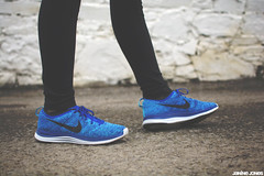flyknit lunar 1 (thatgirlwiththekicks) Tags: blue white black one 1 shoes sneakers trainers nike kicks lunar chlorine lunarlon flyknit