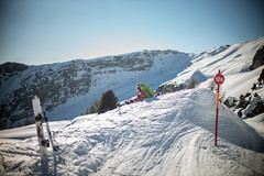 Lunchtime with daddy. (paologmb) Tags: leica sky mountain sport skyline daddy landscape snowboarding happy schweiz switzerland skiing outdoor swiss daughter lunchtime enjoy 50 cransmontana 12a noctilux095 paologamba leicamtyp240