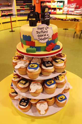 Lego Cake and cupcake tower