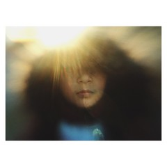 Mobile16 (Ana~Rosenberg) Tags: sunset girl mobile lensbaby child sunflare iphone sweetspot lm10 lbm10 seeinanewway