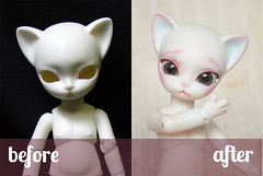 Evangeline BA (Paeonia Drop) Tags: girl cat toy kitten doll bjd custom nano freya anthro balljointed balljointeddoll faceup hujoo hujoofreya nanofreya hujoonanofreya hujoonano
