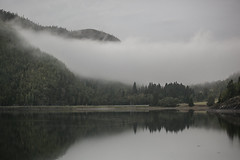 What is real (Gabriel Berg) Tags: morning trees mountain lake reflection norway fog clouds landscape calm nordic scandinavian