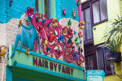 Hair by Fairy at Neal's Yard, Covent Garden - London UK (ChrisGoldNY) Tags: uk greatbritain pink blue england signs green london english colors hair colorful colours forsale unitedkingdom britain gb albumcover coventgarden british bookcover logos bookcovers nealsyard albumcovers consumerist licensing hairstylist racked hairbyfairy chrisgoldny chrisgoldberg chrisgold chrisgoldphoto chrisgoldphotos