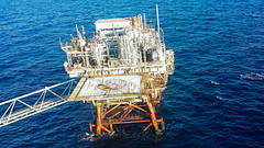 Offshore Platform (Shane Adams Photography) Tags: sea gulfofmexico industrial offshore platform samsung aerial smartphone android oilindustry galaxys4 ilobsterit