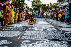 This not just made the street beautiful but the entire day! (Mahendiran Manickam) Tags: madras contest chennai kolam rangoli cwc mylai 2015 mylapore mylaporefestival chennaiweekendclickers cwc406 mahemanickphotography