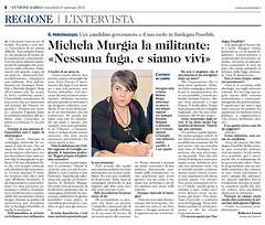 Oggi a pagina 6 de L'Unione Sarda, l'intervista a Michela Murgia: «Sono del parere che Sardegna Possibile debba restare una comunità politica, non un partito, la più inclusiva possibile per i movimenti che si richiamano alla sua carta dei valori. Niente d