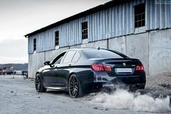 BMW M5 F10 (filipfabianphotography) Tags: speed wheels f10 bmw burnout m5 v8 adv akrapovic