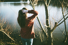 (tyreke.white) Tags: girl 35mm canon reflections river hair golden model shadows mark 14 pale ii hour blonde 5d