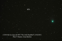 """Lovejoy & M76 by PETER HUDSON • <a style=""""font-size:0.8em;"""" href=""""http://www.flickr.com/photos/74627054@N08/16429892019/"""" target=""""_blank"""">View on Flickr</a>"""