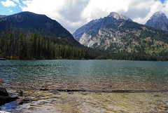Taggart Lake (mike_jacobson1616) Tags: sky mountain mountains water nationalpark rocks turquoise wilderness peaks tetons alpinelake grandteton tetonrange grandtetonnationalpark taggartlake avalanchecanyon taggartlaketrail