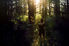 Finding Yourself (MysteryManPhotography) Tags: trees sunset nature forest model woods fear adventure elf fantasy ethereal whimsical woodelf