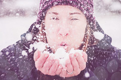 Blow (ThroughTamsEyes) Tags: woman selfportrait snow cold kisses lips blow selfy selfie 52weeks